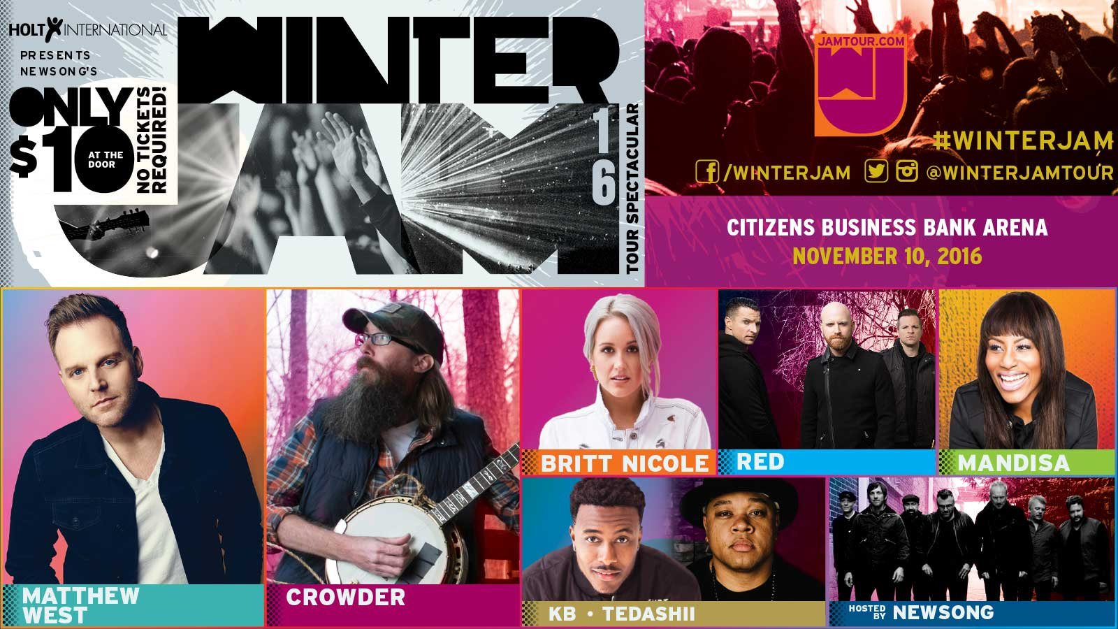 Winter Jam in Ontario November 10